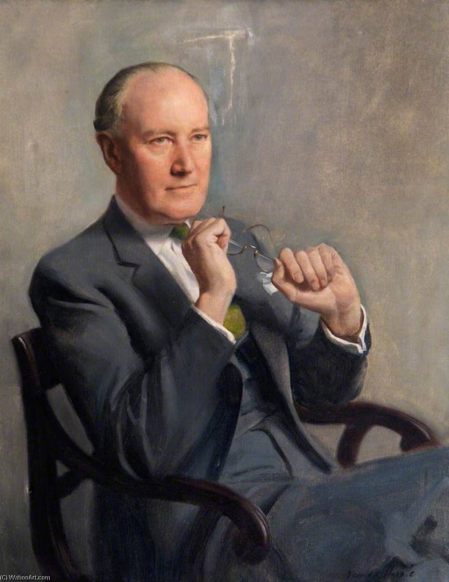 MacDonald Critchley (1900–1997), CBE, MD, FRCP by Norman Hepple | Oil Painting | WahooArt.com