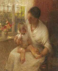 William Edward Stott - A Cottage Madonna