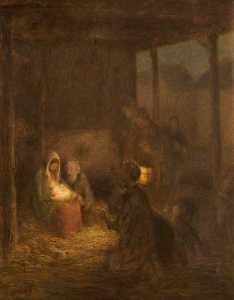 William Edward Stott - There Was No Room in the Inn