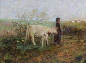 William Edward Stott - The Young Cowherd