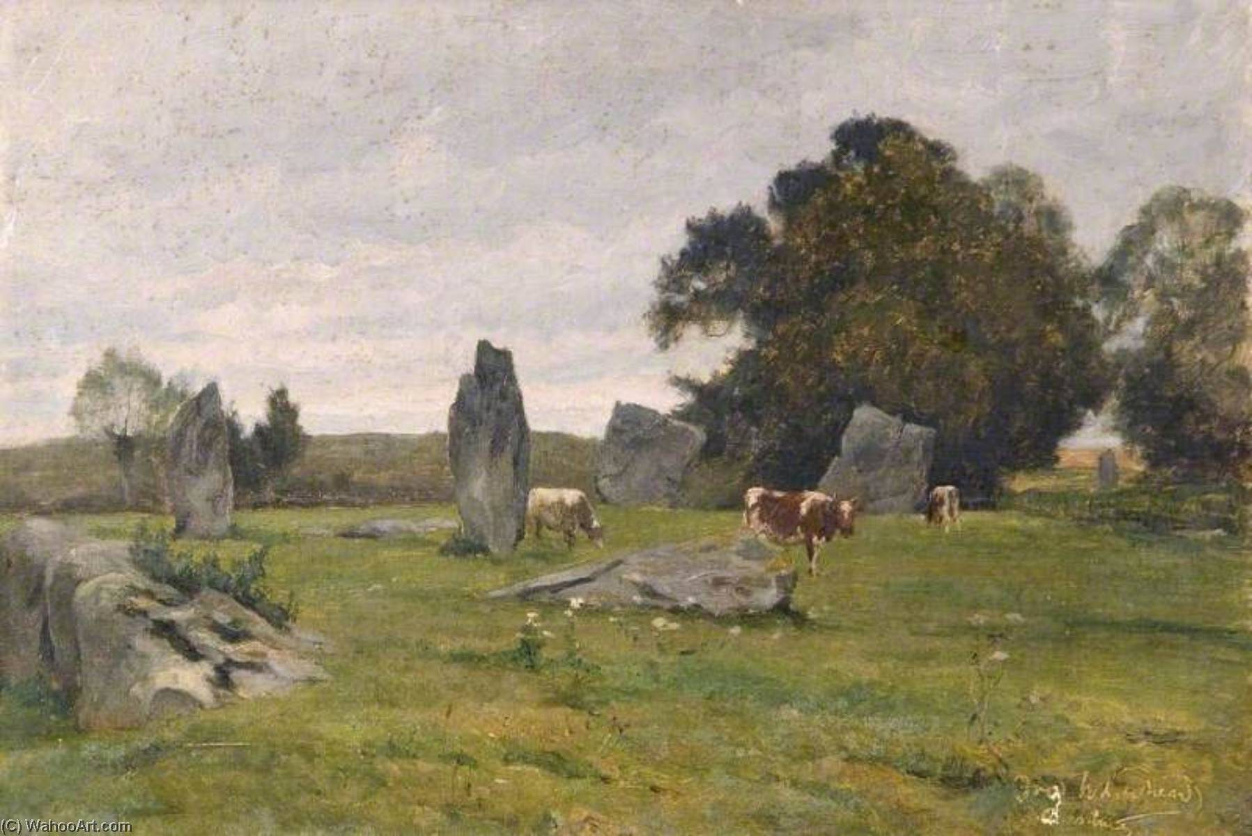 Avebury, 1925 by Frederick William Newton Whitehead | Art Reproductions Frederick William Newton Whitehead | WahooArt.com