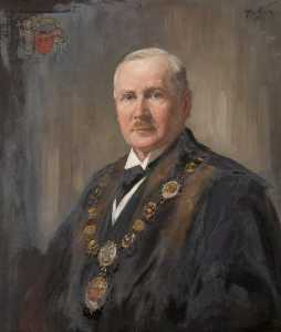 Order Paintings Reproductions | Archibald Craig Anderson of Fernlea, Provost (1919–1925) by Henry Wright Kerr | WahooArt.com