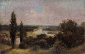 James Isaiah Lewis - View down over Ham Fields from the Top of Richmond Hill, Surrey