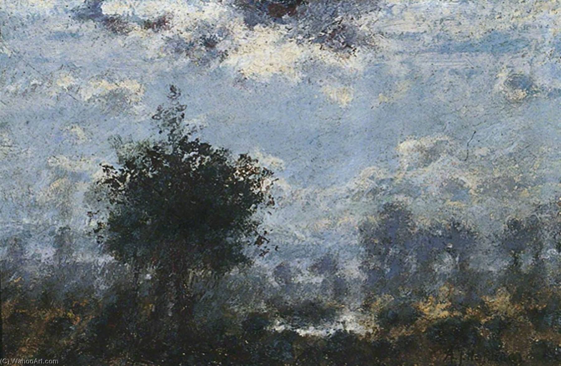 Night An Impression, Oil by Adriaan Josef Heymans