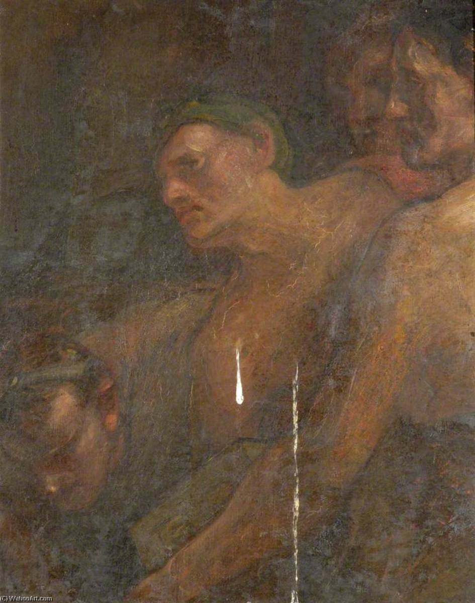 Four Figures (detail), Oil by Douglas Strachan