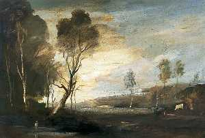 Philip Hugh Padwick - Landscape with a Cow
