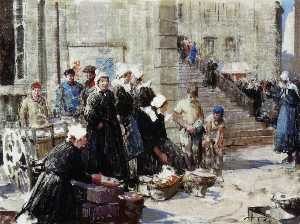 William Lee Hankey - Butter Market, Concarneau