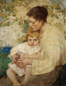 William Lee Hankey - Mother and Child