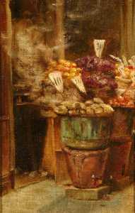 Percy Harland Fisher - Italian Fruit Stall