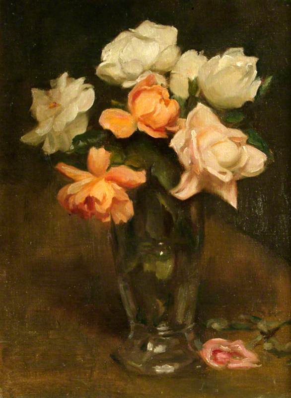 Roses in a Vase, 1944 by Percy Harland Fisher | Art Reproductions Percy Harland Fisher | WahooArt.com