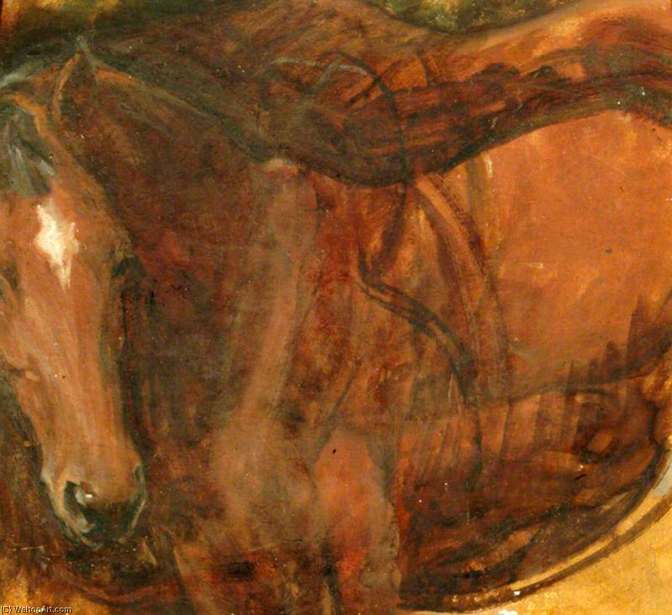 Chestnut Horse (verso), Oil by Percy Harland Fisher