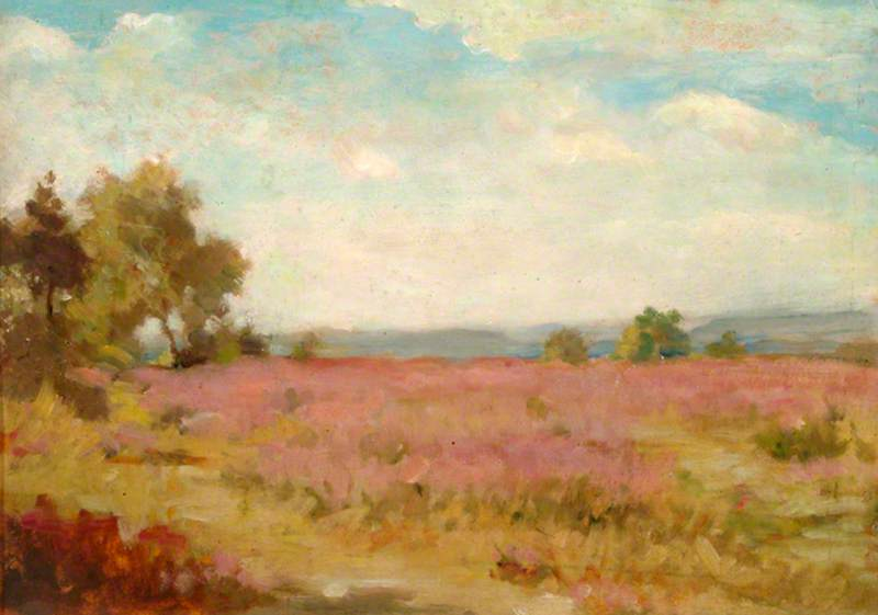 Barossa Common, Surrey, Oil by Percy Harland Fisher