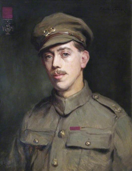 Trooper Frederick William Owen Potts (1893–1943), VC, Oil On Canvas by Percy Harland Fisher