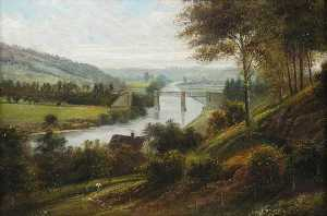 George Willis Pryce - Dowles Bridge, Bewdley, Worcestershire, and the Severn
