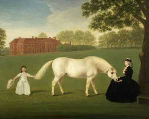 Dorofield Hardy - Mary Curzon (1760–1804), Lady Stawell and Her Daughter, Mary Legge (1780–1864) (copy after John Downman)