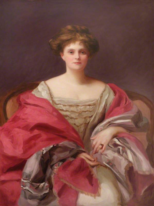 Lady Gwendolen (Florence Mary) Onslow (1881–1966), Countess of Iveagh, Oil On Canvas by Dorofield Hardy