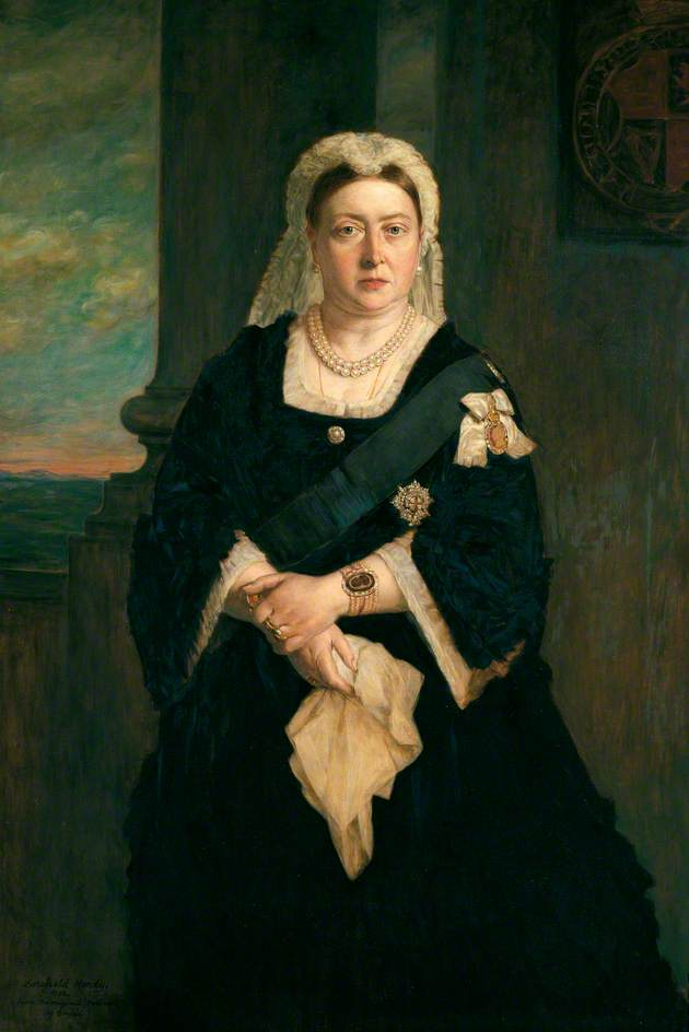 Queen Victoria (1819–1901) (copy of Heinrich von Angeli) by Dorofield Hardy | Painting Copy | WahooArt.com