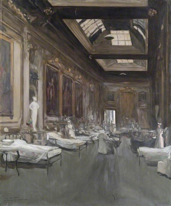 The Ballroom, Londonderry House, 1912 (copy of John Lavery), Oil On Canvas by Dorofield Hardy