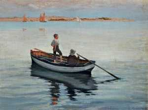 George Percy Jacomb Hood - Two Boys in a Boat