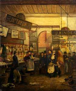 George Henry Wimpenny - The Old Fish Market, Oldham, Lancashire