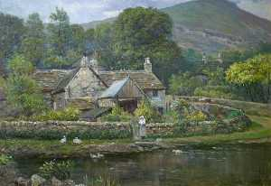 George Henry Wimpenny - Cottage in Derbyshire