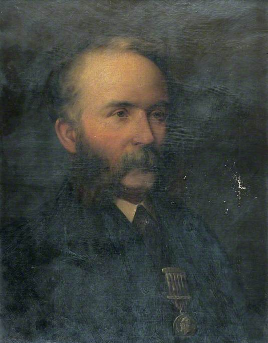 Portrait of the Artist's Father, Oil On Canvas by Thomas Eyre Macklin