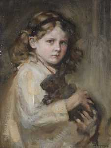 Alfred Edward Borthwick - Grizel and Her Pet