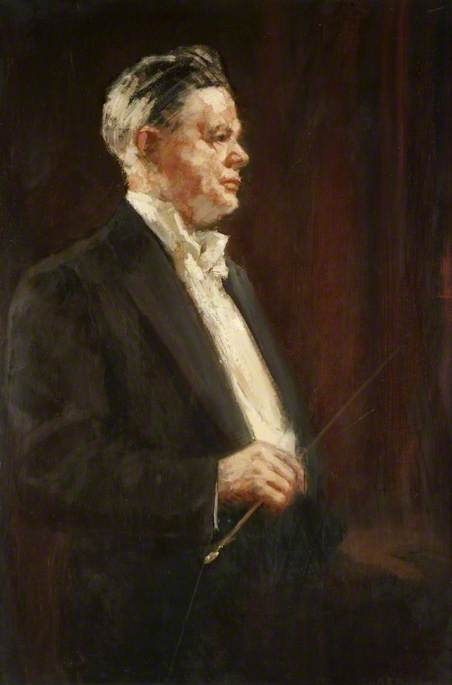 Sir Ernest C. MacMillan (1893–1973), 1949 by Alfred Edward Borthwick | Paintings Reproductions Alfred Edward Borthwick | WahooArt.com