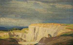 Charles March Gere - A Cotswold Quarry