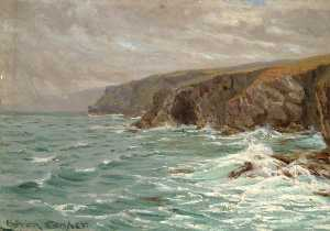 Byron Cooper - On the Cliffs, Tintagel, Cornwall