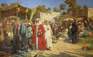 Percy Robert Craft - In a Damascus Market, Syria