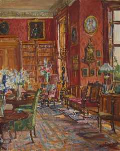 Marie Louise Roosevelt Pierrepont - Library at Thoresby Hall