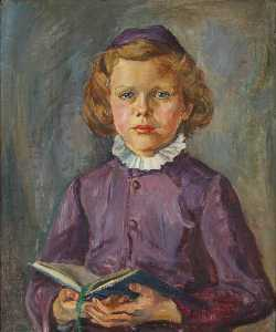 Marie Louise Roosevelt Pierrepont - Portrait of a Young Girl with a Book