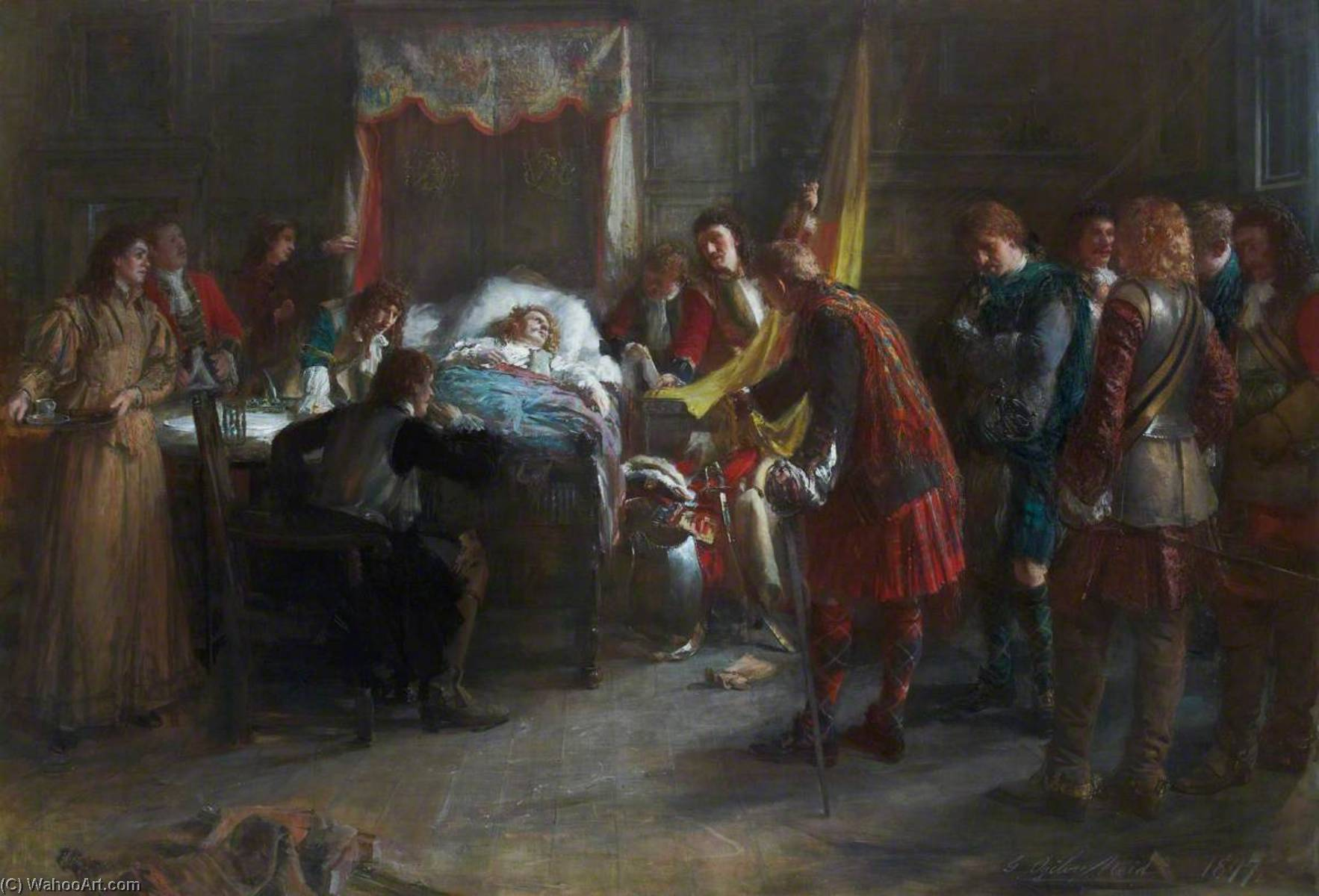 After Killiecrankie – The Death of Claverhouse, 1897 by George Ogilvy Reid | Painting Copy | WahooArt.com