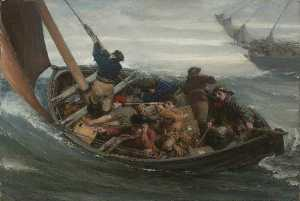 Order Famous Paintings Reproductions : Smugglers, 1903 by George Ogilvy Reid | WahooArt.com