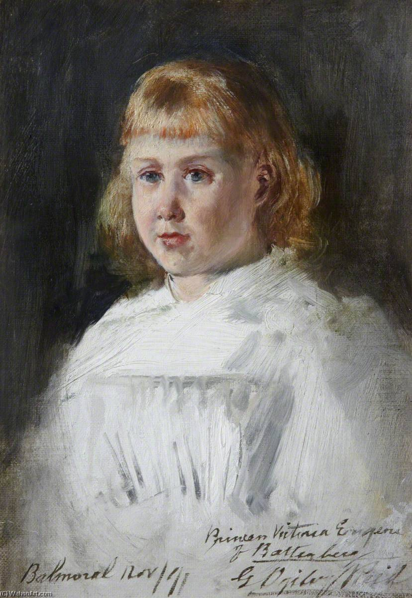 Sketch of Princess Victoria Eugenie of Battenberg (1887–1969), Oil On Canvas by George Ogilvy Reid