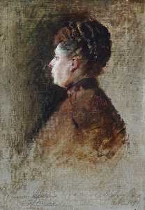 Order Museum Quality Reproductions : Sketch of HRH Princess Beatrice of Battenberg (1857–1944), 1891 by George Ogilvy Reid | WahooArt.com