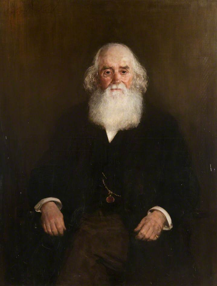 James Russell, First Provost of Motherwell (1865–1868), Oil On Canvas by George Ogilvy Reid