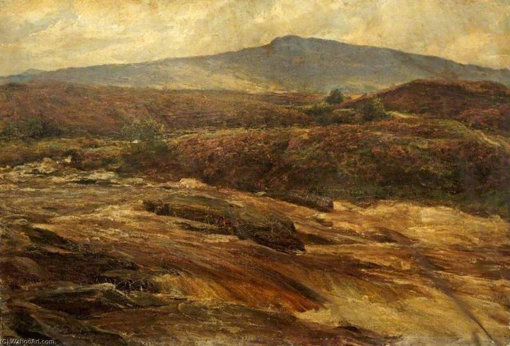 Highland Landscape, Oil On Canvas by George Ogilvy Reid