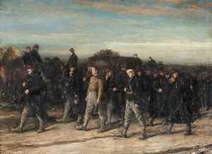 George Ogilvy Reid - 1914 The Belgians on the March