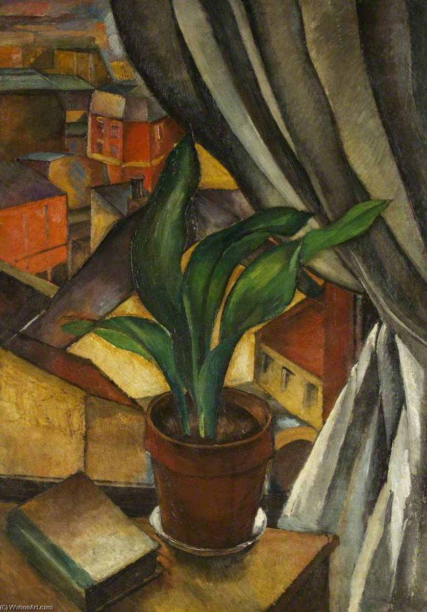 The Aspidistra, Oil On Canvas by Jean Hippolyte Marchand (1883-1940)