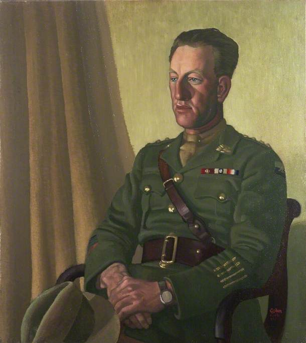 Captain Albert Jacka (1893–1932), VC, MC and Bar, Oil On Canvas by Colin Unwin Gill