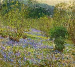 Kate Allen Tryon - Bluebells in Hodson Woods, Wiltshire