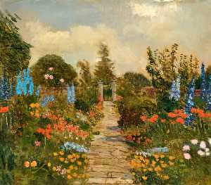 Kate Allen Tryon - Kitchen Garden at Burderop Park, Wiltshire