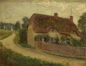 Kate Allen Tryon - Cottage (formerly at the end of the lane leading to Coate Water)