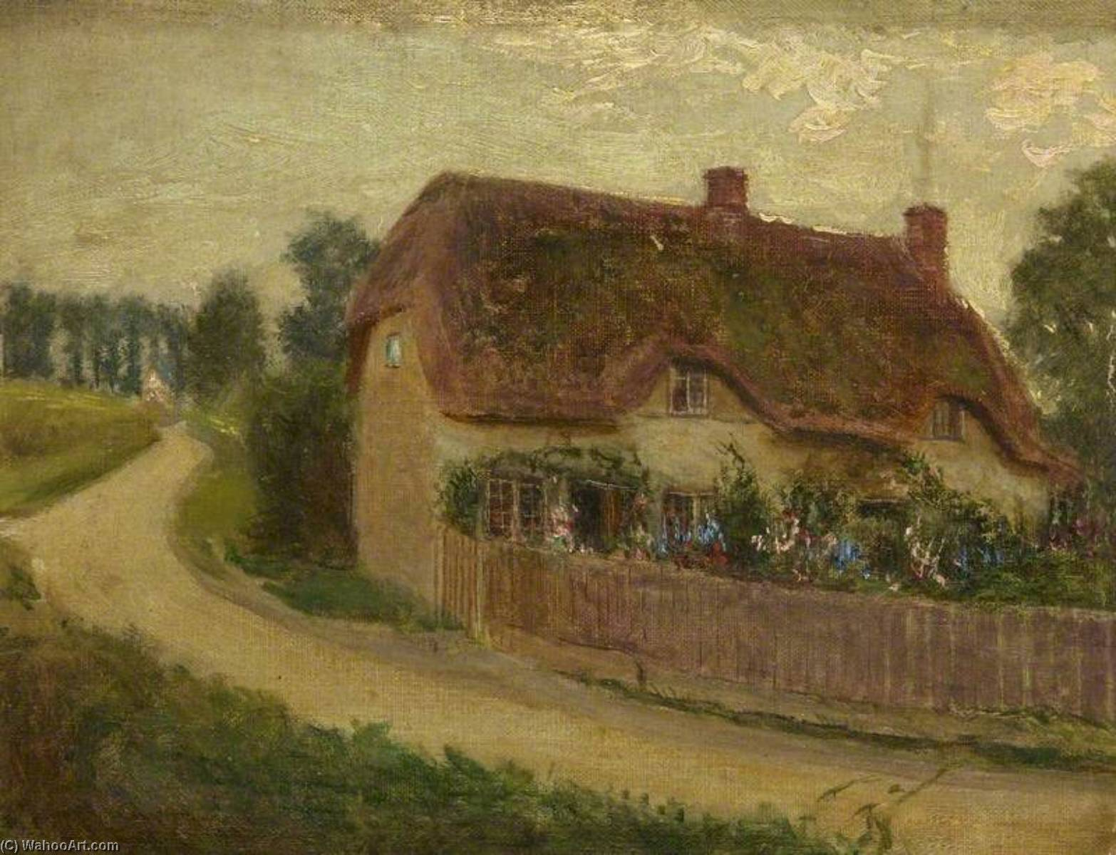 Cottage (formerly at the end of the lane leading to Coate Water), 1910 by Kate Allen Tryon | Art Reproductions Kate Allen Tryon | WahooArt.com