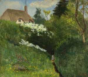 Kate Allen Tryon - The Smallest Cottage in Chiseldon Coomb, Wiltshire