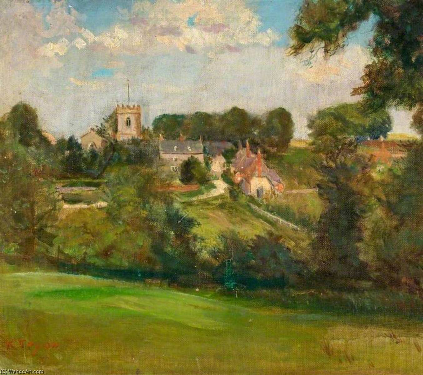 Chiseldon Church, Wiltshire, 1910 by Kate Allen Tryon | Museum Art Reproductions Kate Allen Tryon | WahooArt.com
