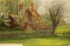 Kate Allen Tryon - Reservoir House, Swindon, Wiltshire, 1910, Home of the Water Bailiff