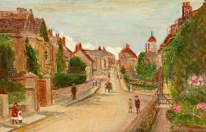 Kate Allen Tryon - Marlborough Road Looking towards the High Street, Swindon, Wiltshire, 1911